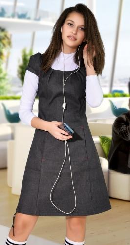Тёплое платье с начесом № 279