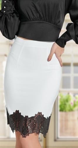 Белая юбка № 1794