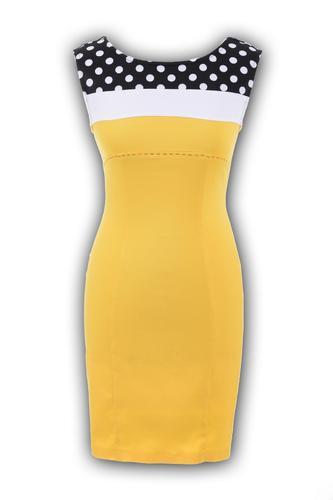 Платье № 1343 жёлтое