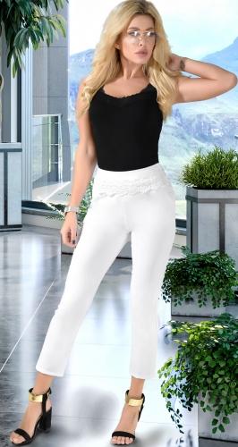 Белые брюки с дорогим кружевом № 17783