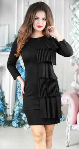 Красивое чёрное платье № 346
