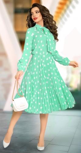 Шифоновое платье гофре № 1835
