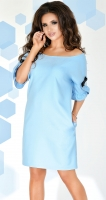 Платье № 3651 небесный