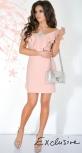 Платье № 3619L пудра