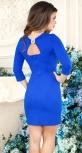 Облегающее нарядное платье,ярко синее