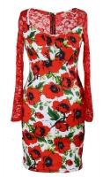Платье № 3002S маки