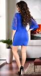 Вечернее платье с широкими рукавами цвета электрик