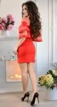 Элегантное красное коктейльное платье