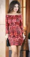 Элегантное платье с красивым декольте