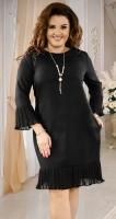 Красивое черное платье с кулоном,№ 38231