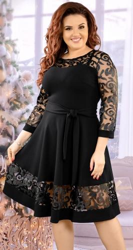 Очаровательное черное коктейльное платье