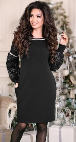 Изысканное  вечернее платье черное № 3853