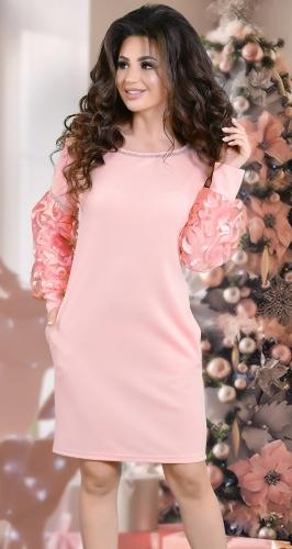 """Изысканное  вечернее платье цвета """"пудра"""""""