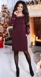 Изысканное  вечернее платье бордо № 3853