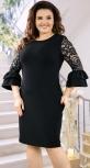 Вечернее черное платье большого размера
