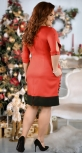 Стильное красное платье с жемчужинами