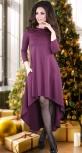 """Модное  асимметричное  платье,""""марсала"""""""