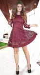 Расклешённое платье из сеточки с вышивкой