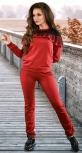 Спортивный костюм с оборкой цвета марсала