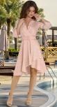 Платье в горошек на запах с широким ремешком № 3943