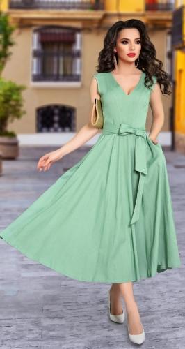 Красивое платье из льна № 4315