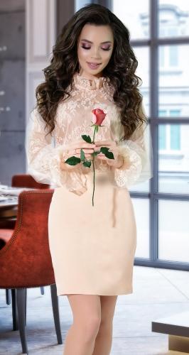 Красивое платье с гипюром № 4246