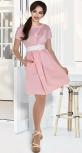 Катоновое платье № 3968,пудровое
