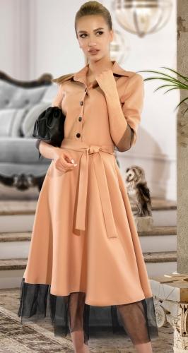 Платье МИДИ с сеточкой № 4362