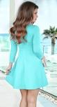 Красивое яркое мятное платье