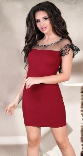 Коктейльное платье с кристаллами № 3774