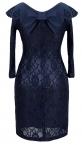 Платье № 1674 синий
