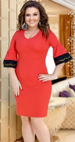 Красное облегающее платье № 34441