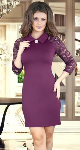 Платье № 3506S марсала