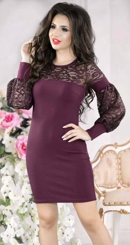 Шикарное вечернее платье цвета марсала