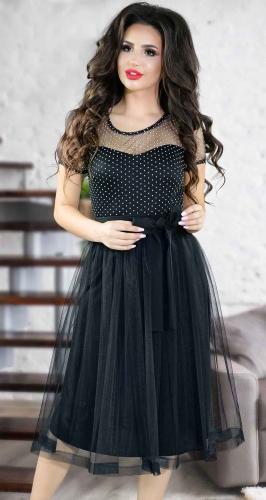 Очаровательное черное вечернее платье № 3838