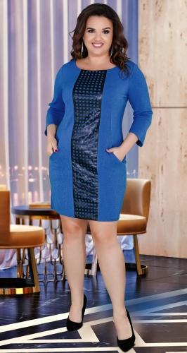 Модное комфортное платье № 35471 , джинс