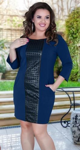 Модное комфортное платье № 35471 , синее