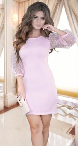 """Изысканное  узкое вечернее платье,""""пудровое"""""""