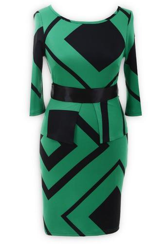 Платье № 13122 зеленое