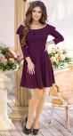 Красивое бордовое платье № 3607