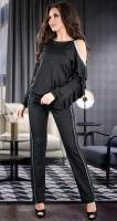 Мерцающий нарядный костюм черного цвета
