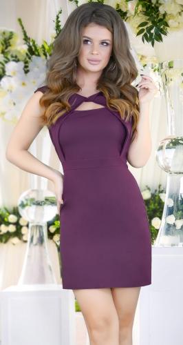 Нарядное платье с красивым декольте,марсала