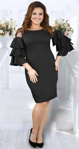 Эффектное коктейльное платье № 37241,чёрное
