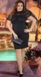 Нежное вечернее платье черное № 37711