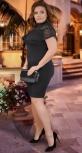 Нежное вечернее платье черное