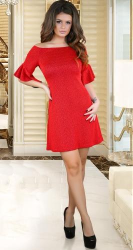 Нарядное красное платье № 3788