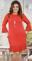 Красивое  платье с кулоном № 38231,красное