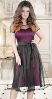 Изысканное вечернее платье цвета марсала