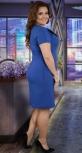 Красивое  платье с перьями,ярко синее