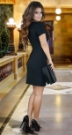Красивое  платье с перьями,черное